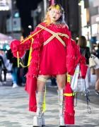 Avant-garde Handmade Harajuku Street Fashion & Glitter Platform Boots