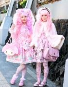 Pink Harajuku Sweet Lolitas w/ Angelic Pretty, BTSSB & My Melody