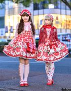 Strawberry Lolita Street Styles in Harajuku w/ Angelic Pretty, Baby The Stars Shine Bright & Queen Bee