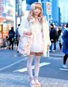 Pastel Harajuku Street Fashion w/ Swankiss Dress, Flower Crown & Cute Cat Bag