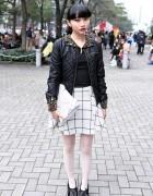 Asami's Embellished Leather Jacket, Betsey Johnson, KTZ & Vivienne Westwood
