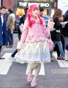Harajuku Sweet Lolita in Baby The Stars Shine Bright & Angelic Pretty