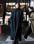 Christophe Lemaire Maxi Coat, Yohji Yamamoto & Limi Feu in Harajuku