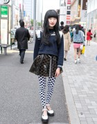 Sailor Top, Transparent Skirt, Polka Dots & Jeffrey Campbell in Harajuku