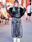 Harajuku Girl in Sheer Fashion w/ Buccal Cone, Hello Kitty, MYOB & Punk Do