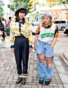 Harajuku Girls in Bucket Hats, Resale Fashion, Platform Sandals & Torn Jeans