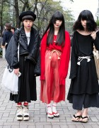 Friends in Oversized Fashion, Bomber & Geta at Bunka Fashion College