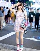 Harajuku Girl in Kawaii Look w/ 6%DOKIDOKI, Candy Stripper & Shimamura