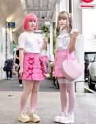 Cute Candy Stripper Harajuku Skirts w/ Katie, Milk & AHCAHCUM.muchacha