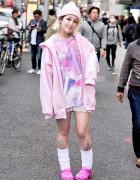 Candye Syrup x Amu Japanese Art Tee & 2.Xjigen Hoodie in Harajuku