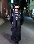 Choco Moo in Harajuku w/ Override Hat, Jean-Michel Basquiat & G4Life