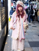 Pastel Fashion & Makeup w/ Quilted Jacket, Ruffle Skirt & Freckleat in Harajuku