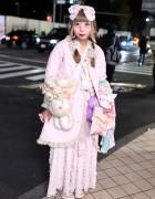 Pretty Pastel Fashion in Harajuku w/ Plush Bag, Care Bears, Lace & Bows