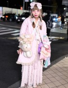 Pretty Pastel Fashion in Harajuku w/ Plush Bag, Care Bears, Lace & Bows
