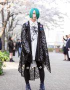 Bunka Fashion College Student w/ Green Hair, Civarize Fashion, Deal Design & Yosuke Boots
