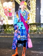 Colorful Harajuku Menswear Street Style w/ Vintage Items, Courreges & CD Necklace