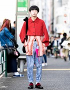 Harajuku Guy in Comme Des Garcons Homme Plus, Jean Paul Gaultier & Anti