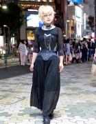 Dangerous Nude Harajuku Staffer w/ PCW Corset & Piercings