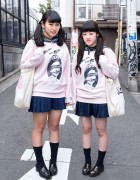 """DVL IS DEAD"" Tops, Sailor Collars & Pleated Skirts in Harajuku"