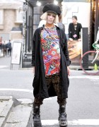 Harajuku Guy w/ Malicious.X Eye Bag, Dog Harajuku, Monomania & New Rock Boots