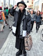 Dolce & Gabbana Coat, Sprayground Bag & YRU Platforms in Harajuku