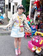 Elleanor in Harajuku w/ Colorful Hair, Himitsu Kessya, Creamy Mami & Betty Boop