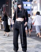 Harajuku Girl in All Black Fashion w/ Faith Tokyo, Killstar, Deandri & American Apparel