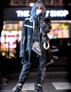 Shoushi's Monochrome Japanese Street Style w/ Freak City, KTZ, Fenty & Oh Pearl