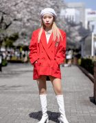 Funktique Tokyo Vintage Jacket & White Patent Boots at Bunka Fashion College