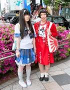 Galaxy Print Sailor Uniform & Sailor Moon Accessories in Harajuku