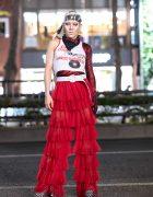GlamHate Designer in Harajuku Wearing Christian Dior Fashion & Single Sequin Glove