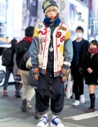 HEIHEI Jacket, Christopher Nemeth Overalls & Tokyo Bopper Shoes