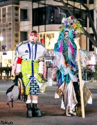 Handmade & Remake Japanese Street Styles w/ Flower Headdress, Model Trains & Platform Boots