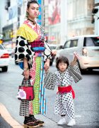Handmade Mother & Daughter Kimono & The Ivy Tokyo Accessories in Harajuku