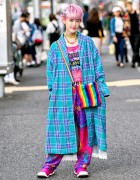 Harajuku Girl w/ Colorful 6%DOKIDOKI, Kinji Resale, Fessura & CawaiiTillIDie Fashion