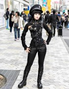 Japanese Steampunk Street Style w/ Ozz On & Pure One Corset Works