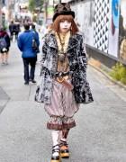 Harajuku Girl in Kiki-Rara Shoten Corset, Dangerous Nude & Miho Matsuda