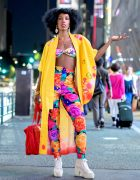 Colorful Harajuku Street Style w/ Hello Kitty Kimono Jacket, Eva B Montreal & Vintage Fashion