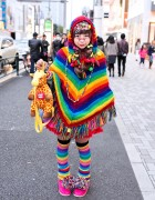 Harajuku Decora w/ Rainbow Fashion, Cute Hair Clips & Giraffe Bag