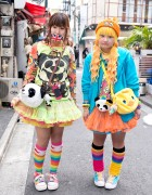 Colorful Styles w/ Tulle Skirts, Rainbow Socks & Panda Purses in Harajuku
