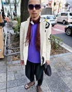 Japanese Fashion Designer's Graphic Blazer in Harajuku