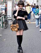 Dark Harajuku Street Style w/ Emoda, YSL, Vivienne Westwood & Converse Platforms