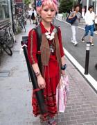 Frida Kahlo, Butterflies & Dicokick in Harajuku