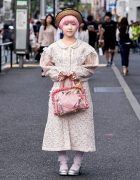 Vintage Harajuku Girl Street Style w/ Straw Hat & Swimmer Japan Items