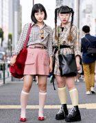 Harajuku Girls in Burberry Plaid w/ Oh Pearl, Faith Tokyo, X-Girl & Jouetie