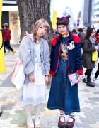 Harajuku Girls in Lace & Denim w/ Scooby Doo, Smurfs & Doraemon