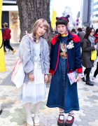 Harajuku Girls in Lace & Denim w/ Scooby Doo, Smurfs & Doraemon