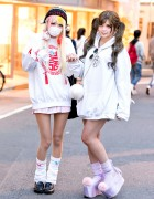 Harajuku Girls w/ Twintails, Oversized Sweatshirts, Loose Socks & Cute Accessories