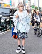 Harajuku Guy in Balmung Jacket, Platform Vans & Comme Des Garcons