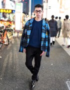 Harajuku Guy in KTZ Blazer, Paul Smith, American Apparel & Brogues